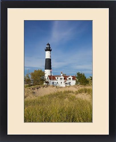 Framed Print of Big Sable Point Lighthouse on Lake Michigan, Mason County, Ludington, MI by Fine Art Storehouse