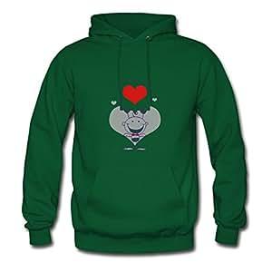 Women Love Green Personalized Vogue Long-sleeve Hoody Shirts X-large