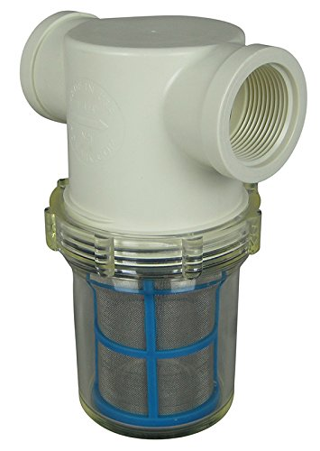 1-1/4'' Female NPT In-line Strainer with 50 mesh stainless steel screen by VacMotion Inc.