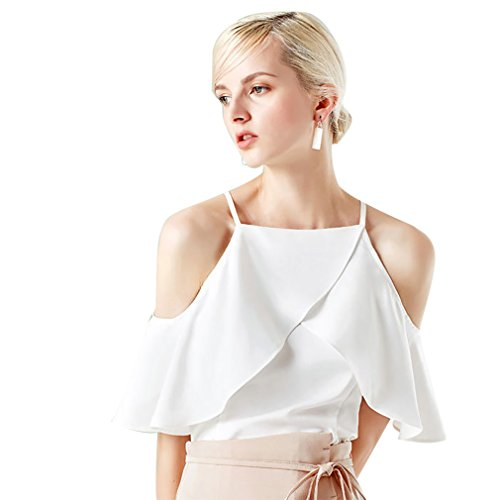White Ruffled Cotton Camisole - 4