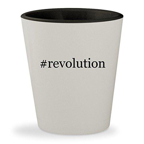 Price comparison product image #revolution - Hashtag White Outer & Black Inner Ceramic 1.5oz Shot Glass