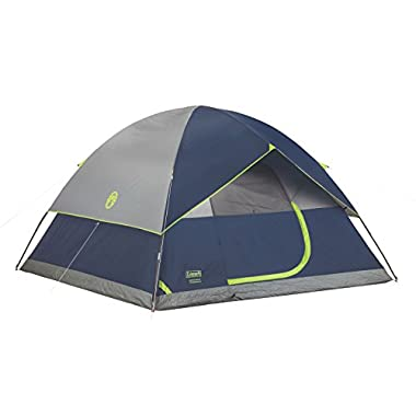 Coleman Sundome 6-Person Dome Tent, Navy/Grey