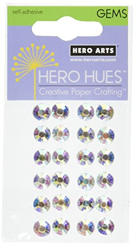 Hero Arts Adhesive Gemstones-Diamond Gems 7mm 20/Pkg