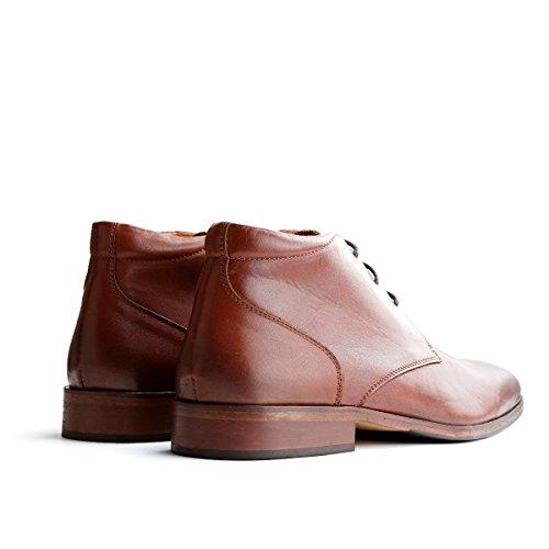 Travelin Gatwick Leather Derby Schnürhalbschuhe Herren | Freizeitschuhe Hochzeitschuhe| Business Schuhe Anzugschuhe | Leder Braun 40 EU