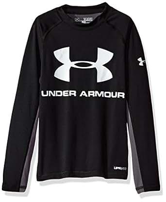 Under armour big boys 39 comp long sleeve for Under armour swim shirt