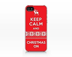 Keep Calm and Christmas On, For HTC One M9 Phone Case Cover 2d Printed Clear Hard Case
