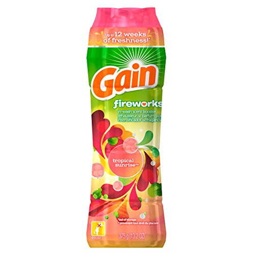 3x Gain Fireworks TROPICAL SUNRISE In-Wash Scent Laundry Boo