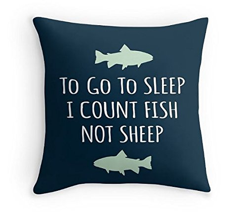 Fish Pillow with the quote