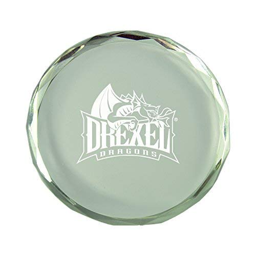 Drexel University-Crystal Paper Weight