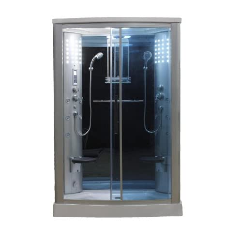 60%OFF Eagle Bath WS-803L 110v ETL Certified Steam Shower Enclosure 3KW generator with 2 Fold-up Seats 2 Handheld Showerheads Acupuncture Massage (12 Jets) and Temperature