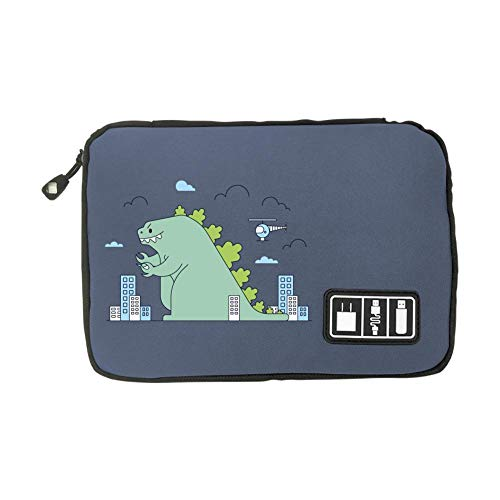 Electronic Accessories Travel Bag Dinosaur USB Flash Drive Case Bag Wallet, SD Memory Cards Cable Organizer