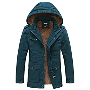 Wantdo Men's Winter Thicken Outwear Coat With Removable Hood