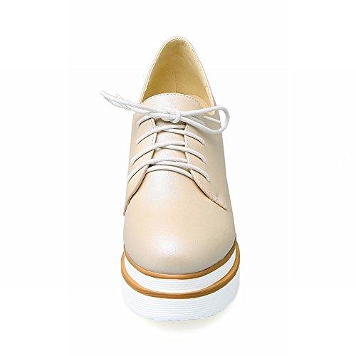 Lace Wedges Beige Latasa Shoes Womens up Inside Latasa Platform Womens Z0Z6qnzT