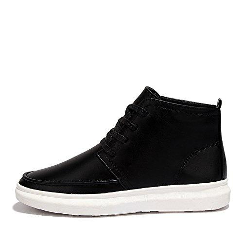 Men's Shoes Feifei Winter Keep Warm High Help Cotton Shoes 2 Colours (Color : Black, Size : EU40/UK7/CN41)
