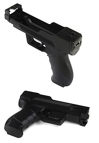 - Wii Motion Plus Gun for Nintendo Wii Controller , Wii Shooting Games (Black, Set of 2)