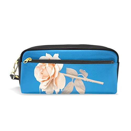 Pencil Case Stylish Print Flower Rose Petals Art Pattern Lar