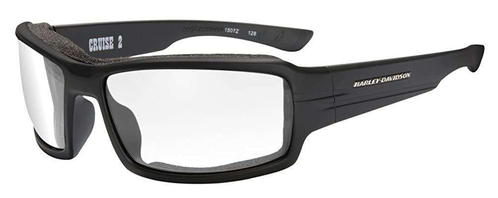 a2352691dee3 Harley-Davidson Men's Cruise 2 Gasket Sunglasses, Clear Lens/Black Frame  HACRS03 at Amazon Men's Clothing store: