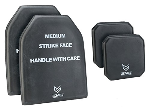 (EMG Tactical Dummy Training SAPI Plate Insert with Side Plates Size Medium (Set of Four))