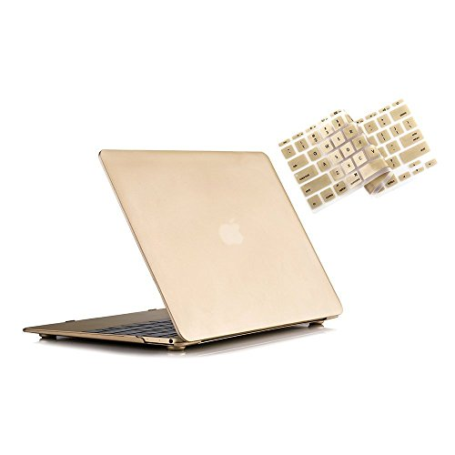 RUBAN MacBook 12 Inch Case Release (A1534) - Slim Snap On Hard Shell Protective Cover and Keyboard Cover for MacBook 12, Gold