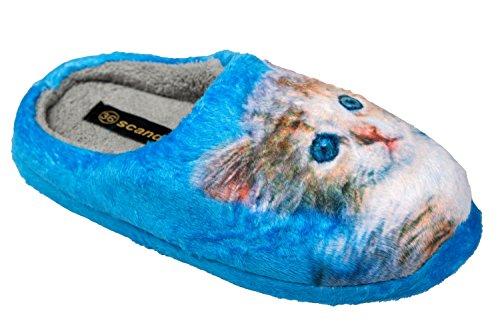 gibra - Zapatillas de estar por casa de tela para mujer Azul