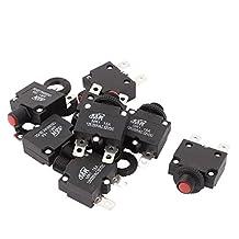 8 Pcs MR-1 Push Button Thermal 15A Circult Breaker AC 125/250V DC 32V