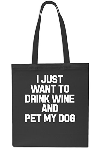 Drink Small Navy My Tote Want Beach 10 Gym I x38cm Wine Bag And To 42cm Black Pet Just litres Dog Shopping qU4wHt