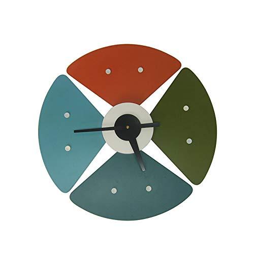 ひまわり形の壁時計ファッションクリエイティブヨーロッパ時計カラーミュートクロック装飾寝室リビングルーム研究オフィスクォーツ時計   B07QVNH1VK