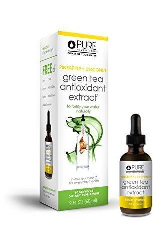 Pure Inventions Green Tea Liquid Dropper (Pineapple and Coconut) (Tea 2 Ounce Liquid)