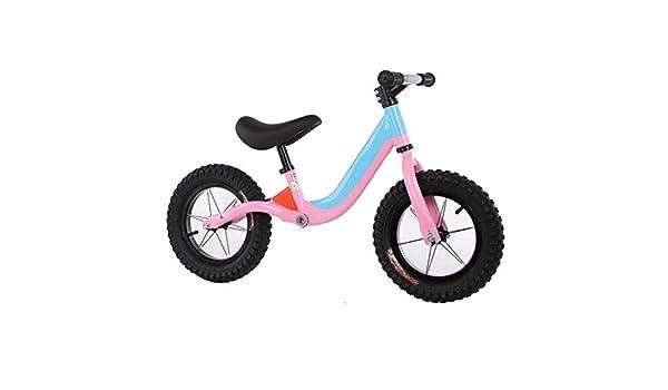 YUMEIGE Bicicletas sin Pedales Bicicletas sin Pedales Cuadro Ligero, Neumáticos Amortiguadores Resistentes Al Desgaste, Bicicleta de Equilibrio para niños 1-6 Años, Dirección 360 ° (Color : Pink): Amazon.es: Jardín