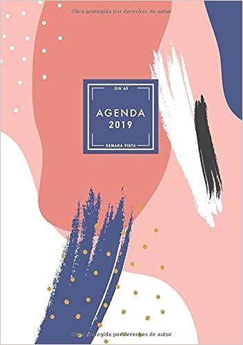 Agenda 2019 Semana Vista, Din A5: Agenda Mensual y Semanal ...