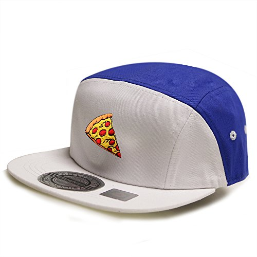 City Hunter Cn145 Pizza Two Tone 5 Panel Biker Hat 13 Colors (Two Tone 5 Panel)