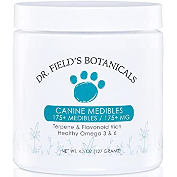 Canine Medibles - 175+ Hemp Dog Chews (1 mg Aerial Hemp Oils Each) - Great for Anxiety, Pain, Old Hips/Joints, Thunderstorms, Fireworks, Excessive Barking, & More - Veterinarian Recommended - 4.5 oz