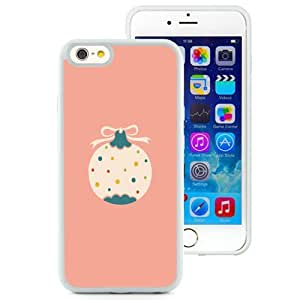 Fashionable and DIY Phone Case Design with Flat Minimal Christmas Ball iPhone 6 4.7inch TPU case Wallpaper in White