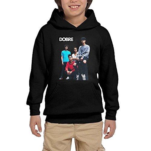 Edward Beck Youth Hooded Sweatshirt Lucas Dobre Logo Fashion Classic Style Black S