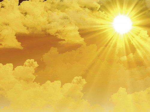 Artland Qualitätsbilder I Bild auf Leinwand Leinwandbilder Jürgen Fälchle Warme Sonnenstrahlen Landschaften Himmel Fotografie Gelb A6MW