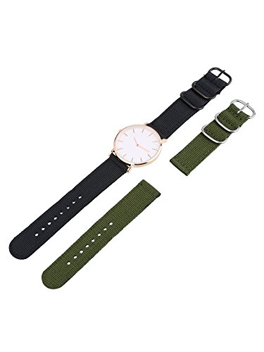Mudder 2 Pieces Nylon Watch Band Replacement Watch Straps and Cleaning Cloth, 2 Colors
