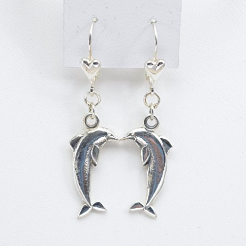 Porpoise Earring (Sterling Silver Dolphin Earrings, Silver Porpoise Earrings fr Donna Pizarro's Animal Whimsey Collection)