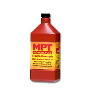 MPT Industries MPT34-20W/50 Hi-Performance Fully Synthetic Motorcycle Motor Oil - 1 Quart Bottle