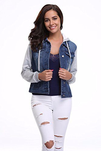 MISS MOLY Denim Jacket Vest for Women Vintage Ripped Button up Western Pockets Cropped Washed Jean Fall Jacket Coat - stylishcombatboots.com