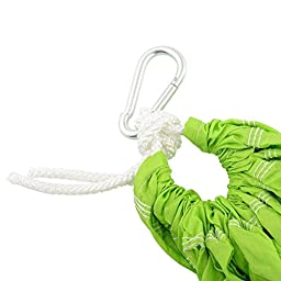 Amzdeal Yoga Swing Hammock Sling Trapeze Inversion for Gym Home Fitness Green