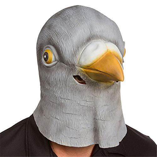 Hats Musical - Pigeon Mask Latex Giant Bird Head Halloween Cosplay Costume Theater Prop Masks Decoration - Brooch Musical Hats Party Masks Creepy Bird Doctor Mask Horror Head Halloween Outfit W]()