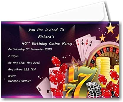 Personalised Birthday Casino Themed Birthday Party
