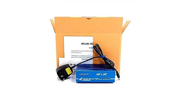 PINBOX Splitter HDMI 1 Entrada - 4 Salidas (1.4V) 4K, 2K, 3D ...