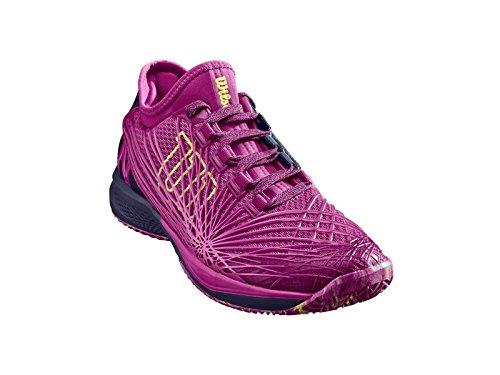 Wilson Women's KAOS 2.0 SFT Tennis Shoe, Very Berry/Evening Blue/Sunny Lime, Size 9.5
