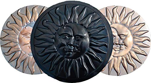 (SUN & MOON CONCRETE PLASTER PLASTIC MOLDS STEPPING STONE GARDEN PATH)
