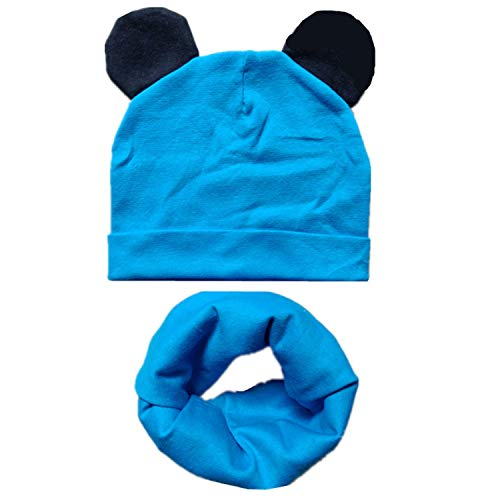 LONIY Children Cotton Solid Cap Soft Warm Hat Cartoon Cute Bear Ear Hats for Boys Girl Cute Ears Spring Autumn Hats