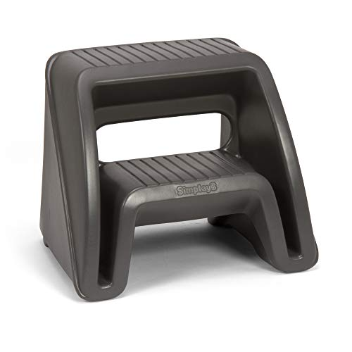 Style Mounting Block - Simplay3 Handy Home 2-Step Plastic Stool 16 in. - Gray