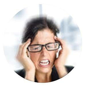 alfombrilla de ratón Empresaria estrés y dolor de cabeza - ronda - 20cm