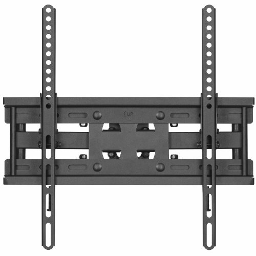 """Cheetah Mounts APDAM3B Dual Articulating Arm (14"""" Extension) TV Wall Mount Bracket for 20-55 inch LCD, LED and Plasma Flat Screen TVs up to VESA 400x400 and 115lbs, with Tilt, Swivel, and Rotation Adjustment, Including a Twisted Veins 10' Braided High Speed with Ethernet HDMI Cable and a 6"""" 3-Axis Magnetic Bubble Level"""