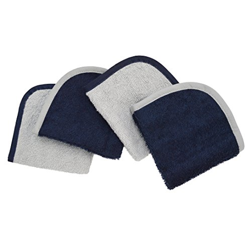 American Baby Company Terry Washcloths Made with Organic Cotton, Dark Navy, for Boys